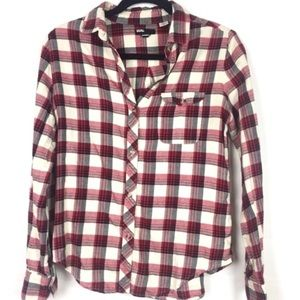 Urban Outfitters | BDG Red Boyfriend Flannel Top